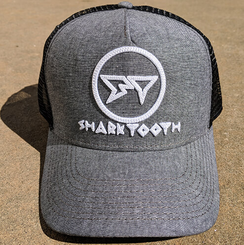 Shark Tooth Rise Trucker Hat - Black Oxford Front