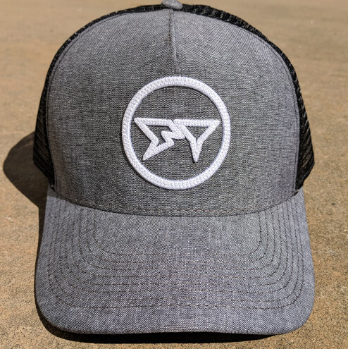 Shark Tooth Zone Trucker Hat - Black Oxford Front