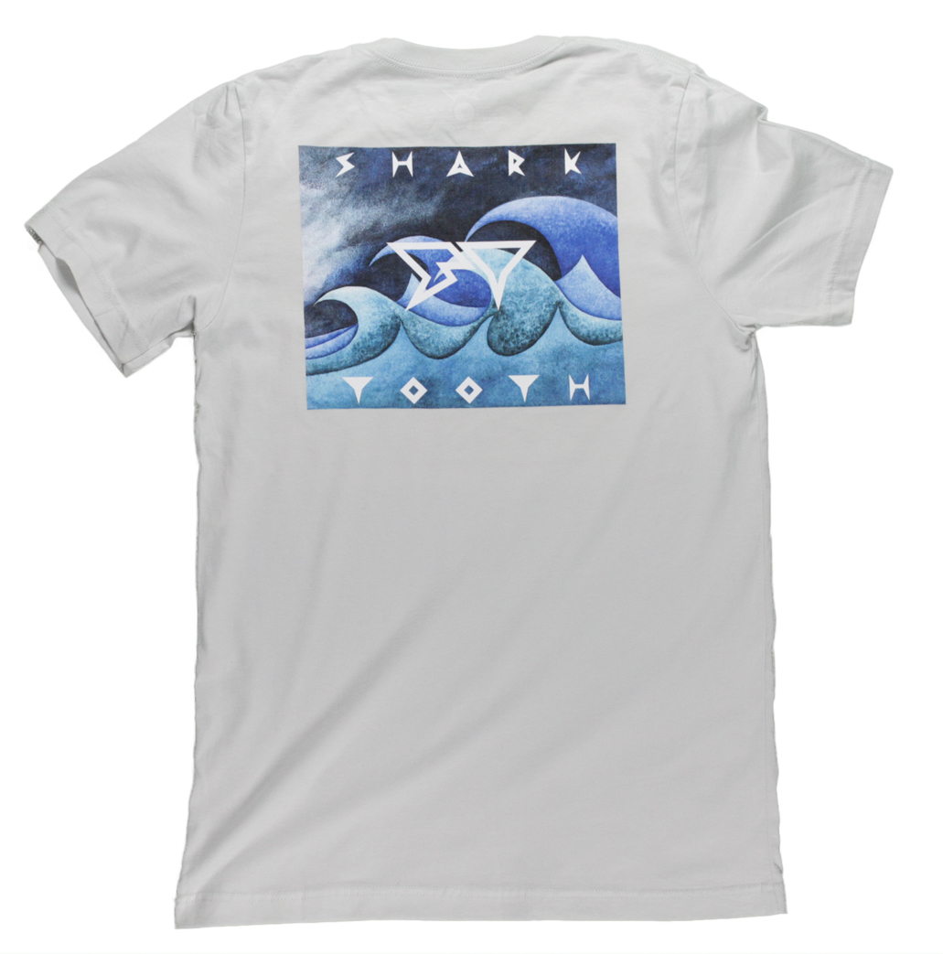 Wild Waves Tee - Silver - Back