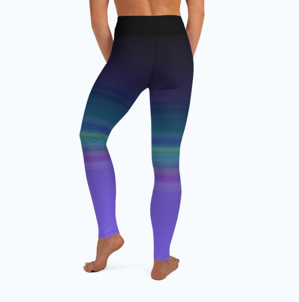 Full back view of the Namaste Yoga/Surf Leggings by Shark Tooth Surf Co.