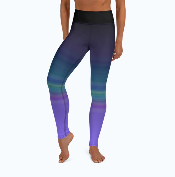 Full front view of the Namaste Yoga/Surf Leggings by Shark Tooth Surf Co.
