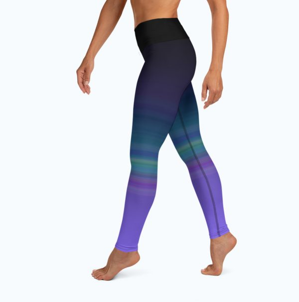 Full left view of the Namaste Yoga/Surf Leggings by Shark Tooth Surf Co.