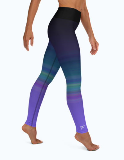 Full right view of the Namaste Yoga/Surf Leggings by Shark Tooth Surf Co.
