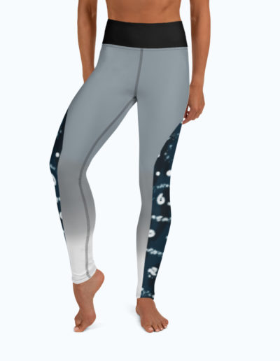 Tranquil Bay Yoga/Surf Leggings - Front View by Shark Tooth Surf Co.