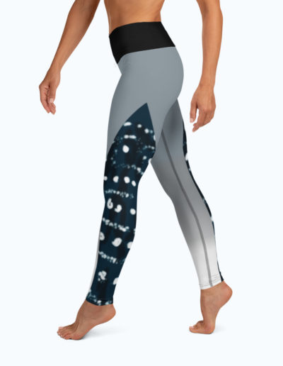 Tranquil Bay Yoga/Surf Leggings - Left View by Shark Tooth Surf Co.