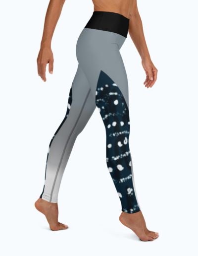 Tranquil Bay Yoga/Surf Leggings - Right View by Shark Tooth Surf Co.