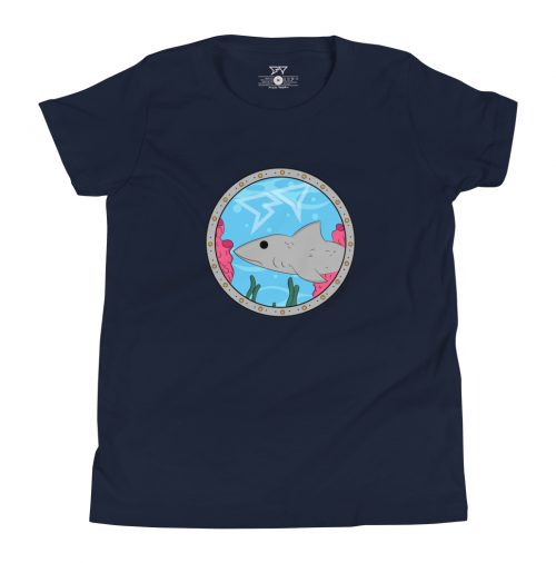 "Shark Tooth Surf Co Kids Shirt ""Porthole One"" by artist Gracie Steward"