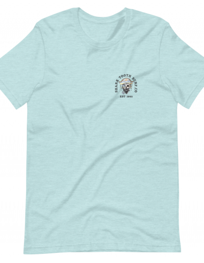 Palm Pirate Front - Heather Ice Blue