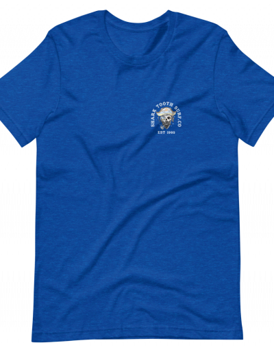 Palm Pirate Front - Heather Royal Blue